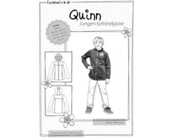 Quinn Soft Shell Jacket Farbenmix pattern