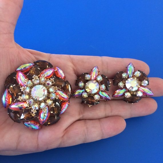 Vintage, Clip Earrings, Vintage Brooch, Clip On Ea
