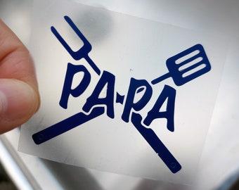 EXTRA Grill-Besteck Aufdruck mit Namen z.B. PAPA für jede Schiebermütze