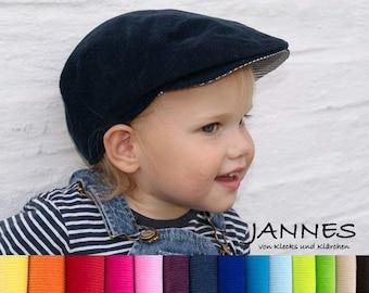 Schiebermütze für Babys, Kinder und Erw., Wunschfarbe Kuschel-Cord