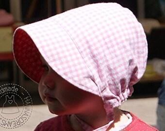 Babybonnet Yaantje aus Baumwolle zum Wenden in großer Stoffauswahl