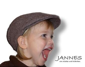 Schiebermütze aus Tweed für Babys, Kinder und Erwachsene auch im Partnerlook