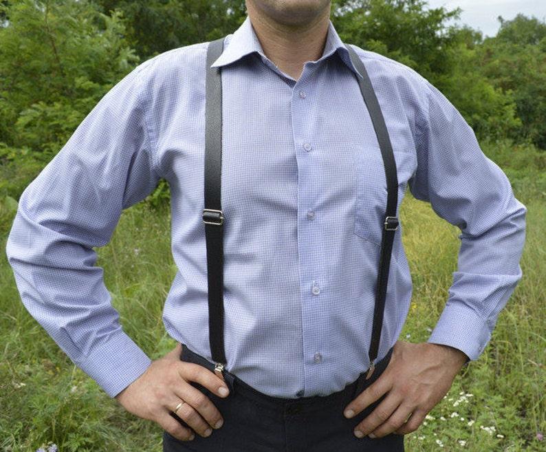 9cace686c Custom Suspenders Men Leather Harness Mens gift Mens braces