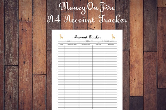 bank checking account register information tracker info etsy