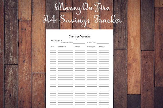 savings printable goal tracker chart plan money printable etsy