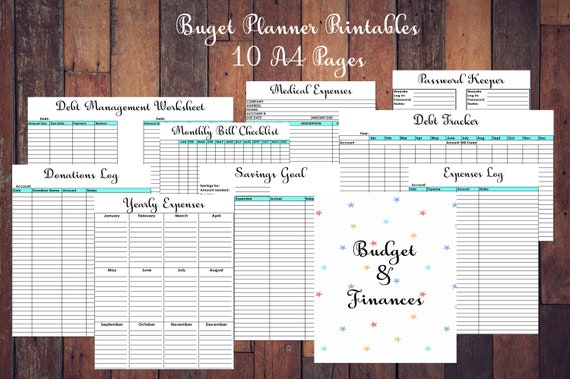 debt payoff tracker repayment planner free printable payment etsy
