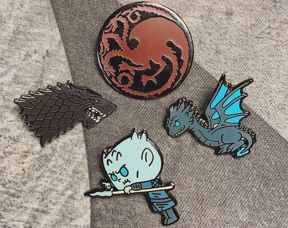 Game of Thrones Pin | Stark | Targaryen | Night King | Ice Dragon | Enamel Pin