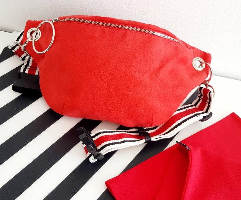 Hip Bag red suede