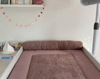 PinkClouds • BEZUG für Wickelauflage • Rolle • Wunschfarbe • auch mit Wechselauflage erhältlich • Frottee • Waffel • verschiedene Größen