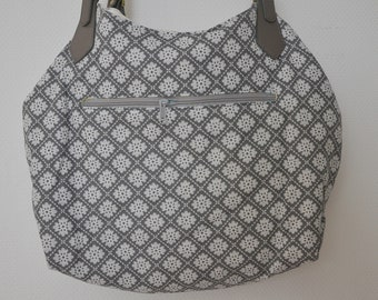 Large Shoppingbag with leather handles