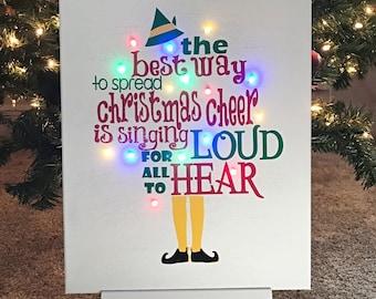 Elf Christmas Decor Etsy