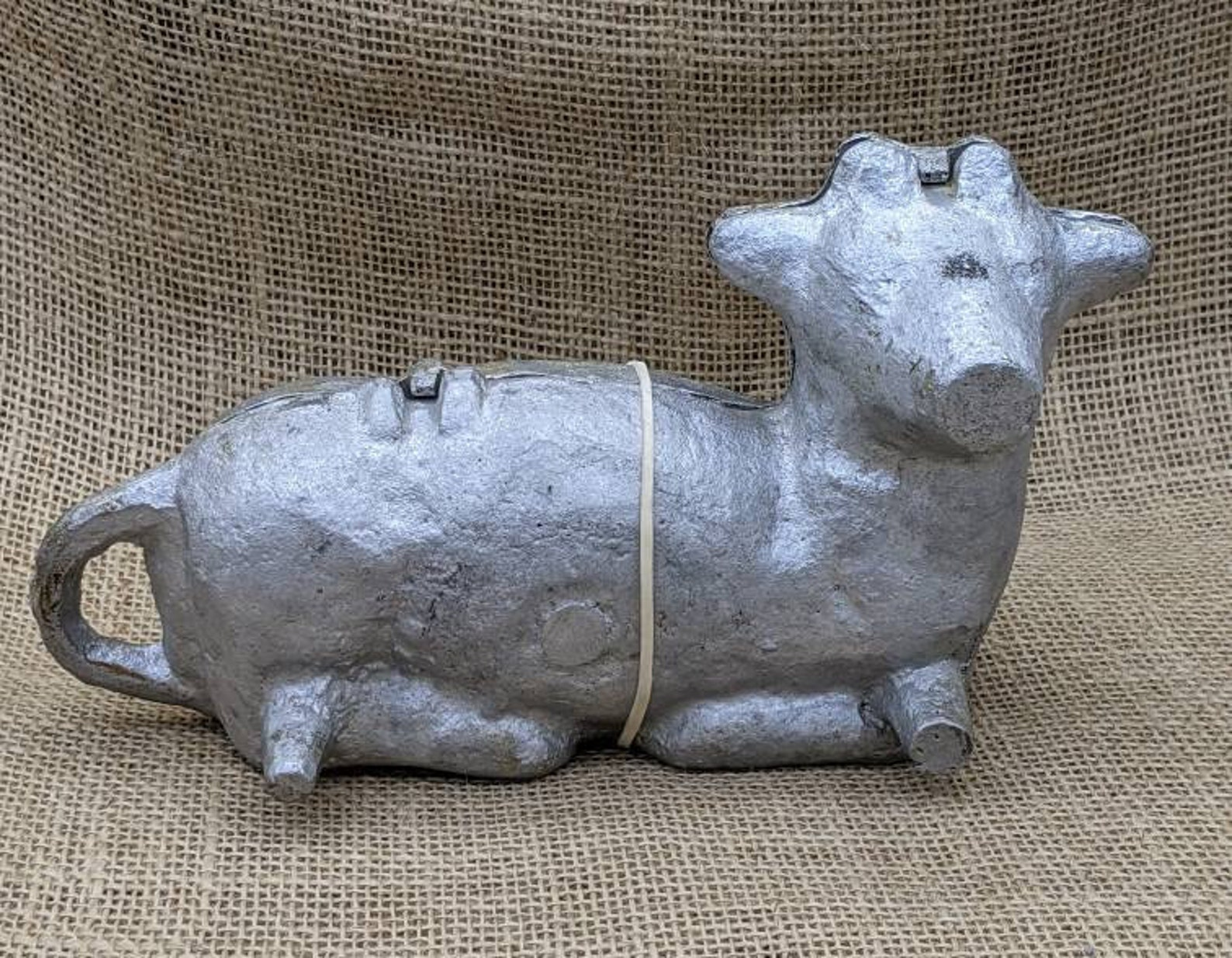 Lamb Cake Mold, Cast Metal Two Piece Lamb Mold