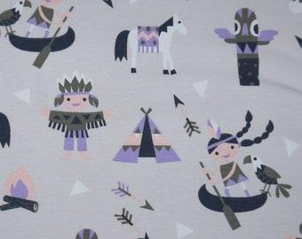 Fuchs Füchsin 50 cm Baumwoll-Jersey Jerseystoff Kinderstoff 2 Farben