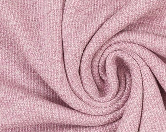 23b2f48145d 14.98Meter Euro/m knit fabric Marvin swafing alrosa pink mottled 100% cotton  jersey melange knitted salt & pepper