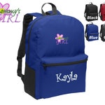Personalized Kids Backpack Embroidered Mommy's Girl Monogrammed with Name of Your Choice Perfect Kids School Gift