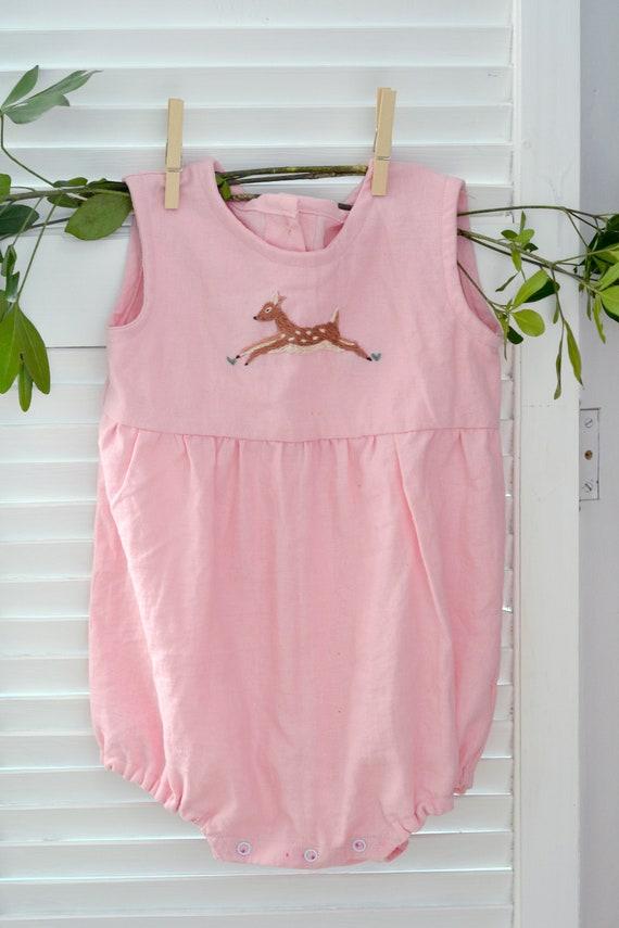 03110b1b28cf Linen Romper Pink Romper mameluco de bebe Girl Clothes