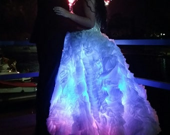 fiber optic dress etsy