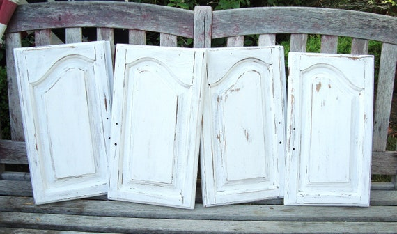 SOLD 4 Vintage Architectural Salvage White Shabby Chippy | Etsy