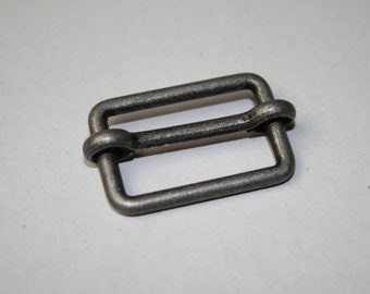 Schieber 25 mm altsilber (EUR 1,85/St.) silber antik Gurtbandversteller beweglich Gurtversteller Regulator