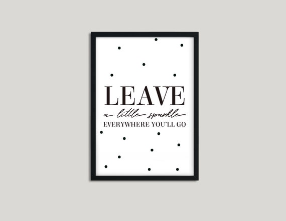 LEAVE A LITTLE | Etsy