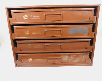 MCM men/'s divided hinge compartment gold crown wine brown leather fx leather vanity bureau valet box change coin key jewelry tray organizer