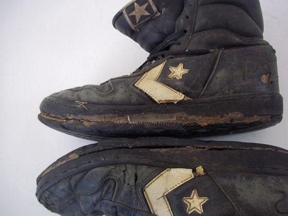 Rare Vintage 1990 Converse HighTop Black Shoes Size 10 12 16475 3E9003 0918