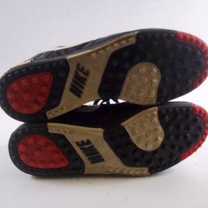 Rare Vintage 1991 Nike Zapatos de Fútbol Tamaño 12 Negro 910204FT2 0918