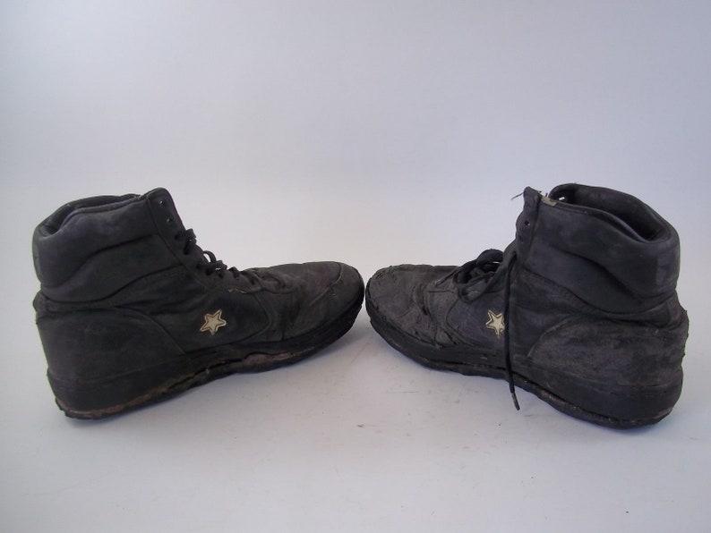 Rare Vintage 1990 Converse HighTop nero scarpe taglia 10-1/2 6IA7RIXr
