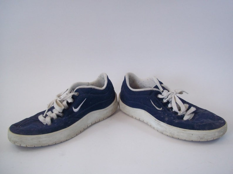 Rare Vintage 1998 Nike basso taglio tela scarpe taglia 10 Blu DCXnOXgF