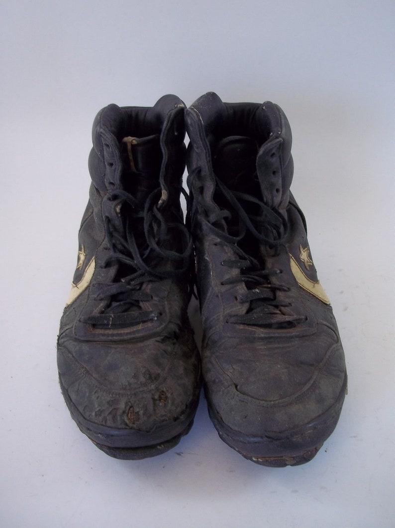 b189cf4aeffa1 Rare Vintage 1990 Converse HighTop Black Shoes Size 10-1/2 16475 3E9003 0918