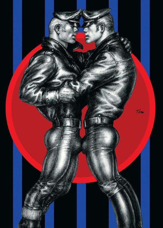 Tom of Finland Postcard Mens Leather Pants Gay Pride