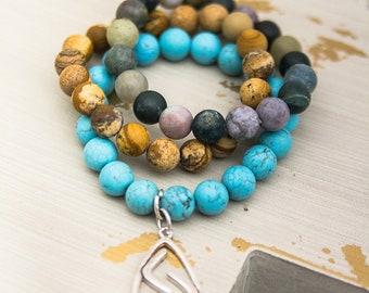 Genuine Stone Stretch Bracelets
