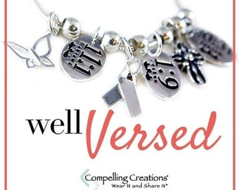 Sterling Silver Scripture Verse Charms