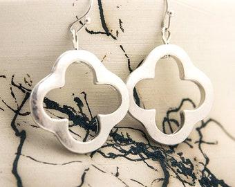 Hypoallergenic Clover Cross Dangle Earrings