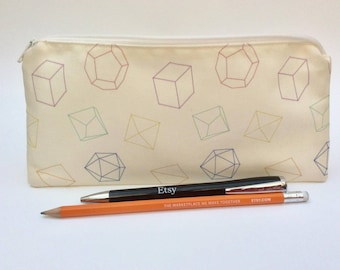 Dice pencil case, dungeons and dragons, d20, dice bag