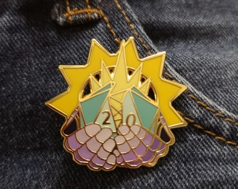 Cleric Hard Enamel Pin, dungeons and dragons, d20, dice, critical hit