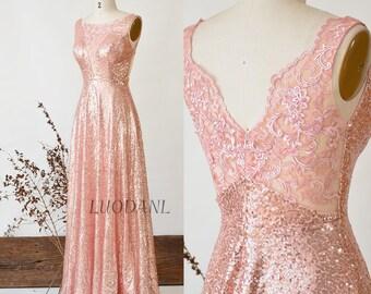 Rose Gold Dress Etsy