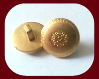 8 Gold x 13 mm Pattern Buttons G148a