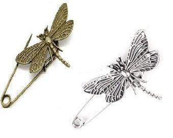 Broschen & Nadeln Brosche Schmetterling Silber Email Emaille
