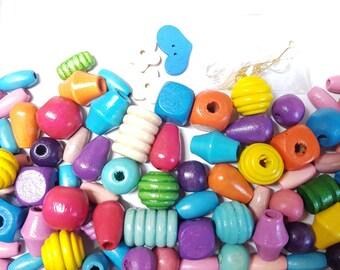 Sadingo Lettres perles multicolores 6 x 6 mm 100 pcs. imprimé blanc