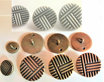 Designed and made by Anna Bronze stripped charms stripe antique bronze handmade jewelry findings beads spacer 3142 Bead bronze Tube