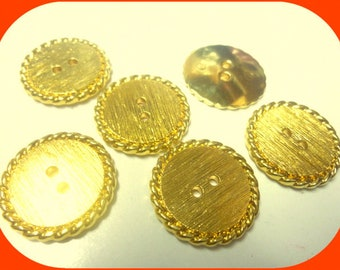 8 mini gold 9mm metal buttons buttons G273