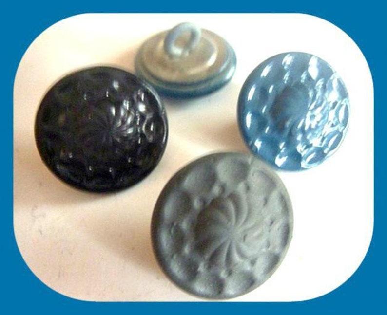 CHOOSE 8 matt black grey petrol x 15 mm costumes metal buttons buttons