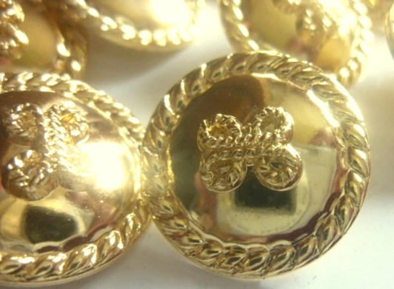 2 sizes 10 gold bows buttons of 18 mm 20 mm G117a xx