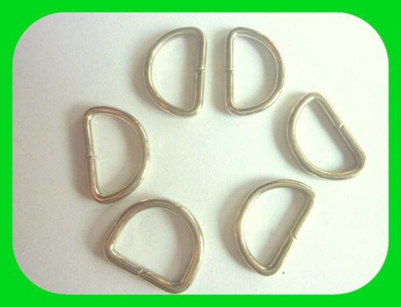 silver D buckle connectors 2 sizes 10