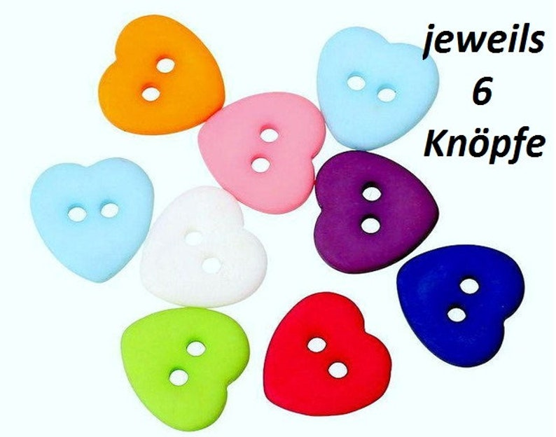 10 or 15 colorful matte heart kids 12 x 12 mm buttons kids buttons