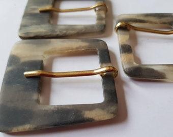 1 brown buckle bridge 2.9 cm matching buttons belt buckle K94a