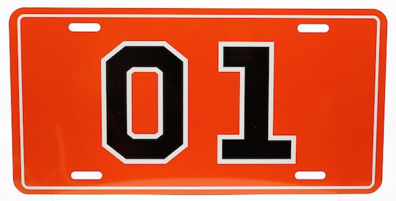 Novelty 01 Dukes Of Hazzard License Plate