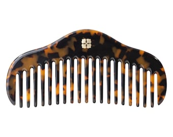 RuYi Comb Collection | Acetate Resin Hair Comb Gift Tortoise Shell Deluxe Accessory