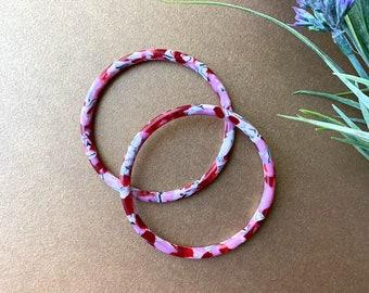 Luna Bangles in Cherry Blossom